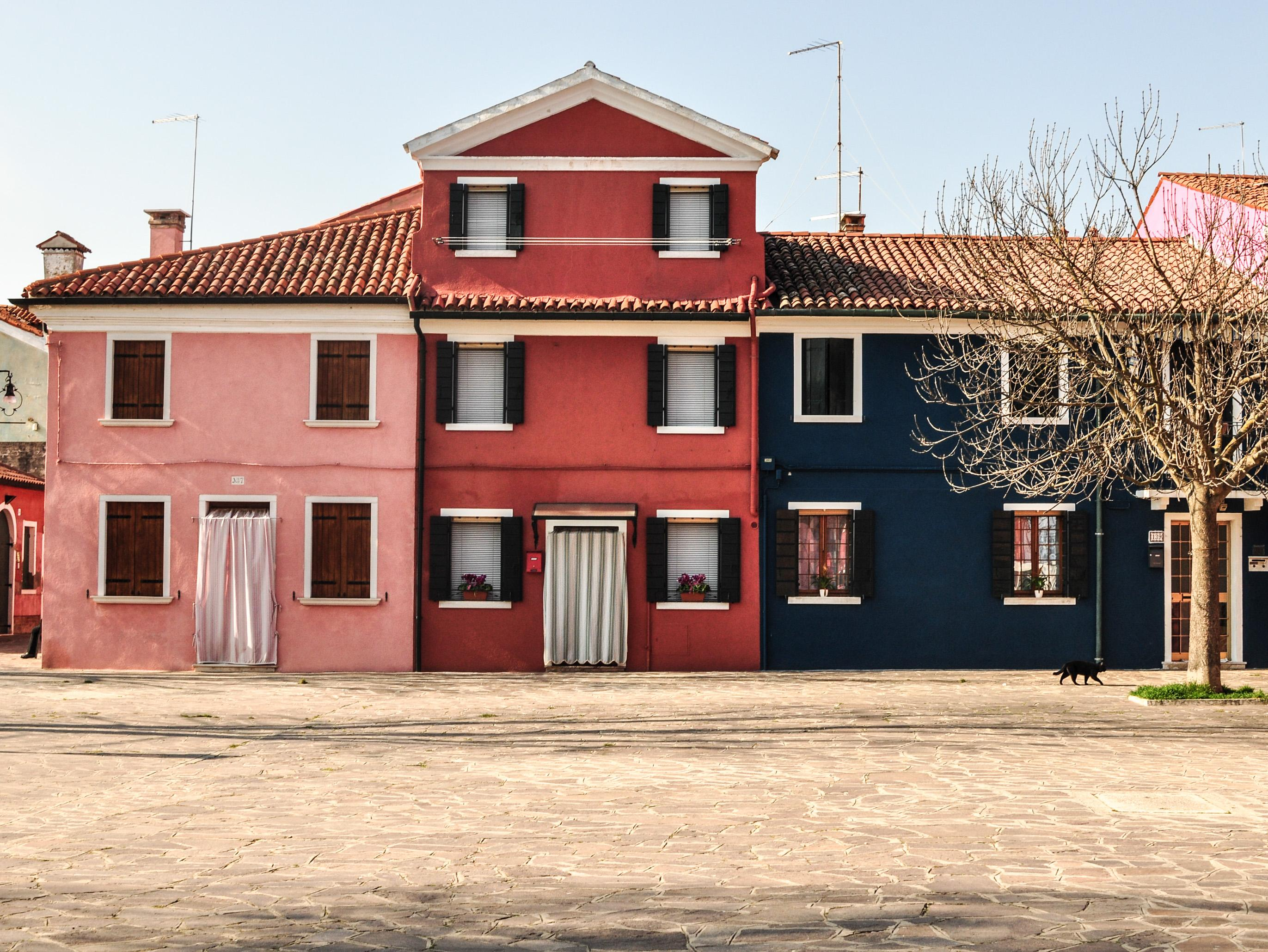 Burano, Italy, Venice, arhitecture, color, colors, house, multicolor, paint, painted, travel, village, water