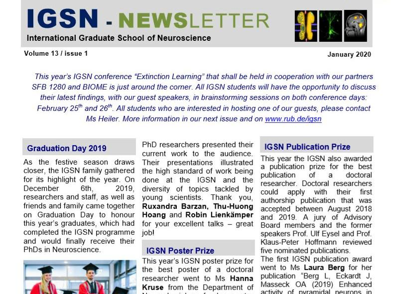International Graduate School Newsletter