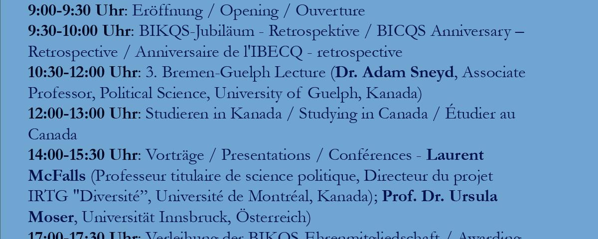 Canada and Québec Study Day
