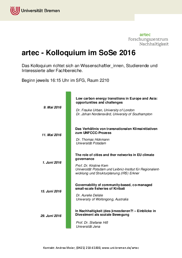 [Translate to English:] Kolloquium SoSe 2016