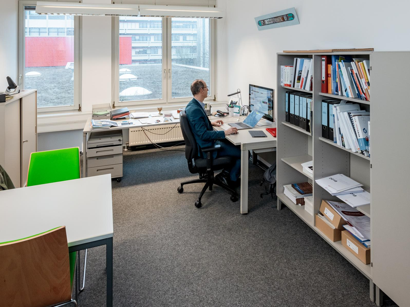 Professor Andreas Breiter in his office.