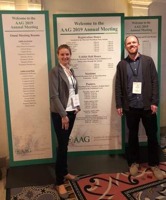 Cathrin Söllner und Kolja Hesse bei dem Annual Meeting of American Geographers 2019