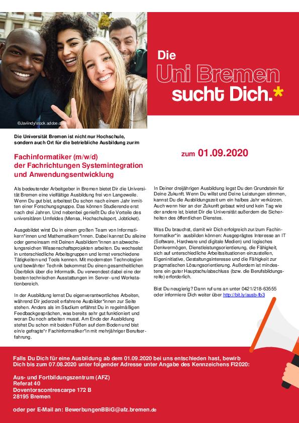 Admission Universitat Bremen