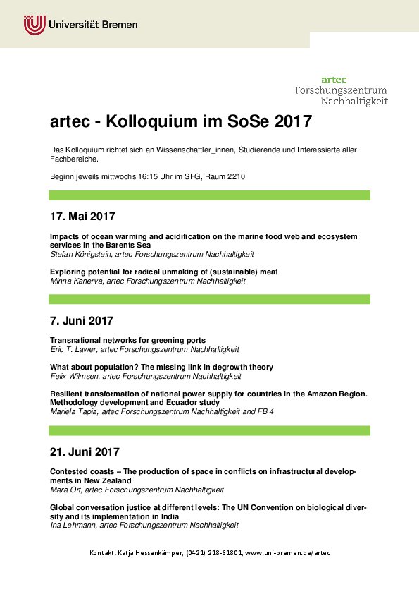 [Translate to English:] Kolloquium SoSe 2017