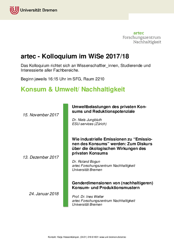 [Translate to English:] Kolloquium WiSe 2017/18