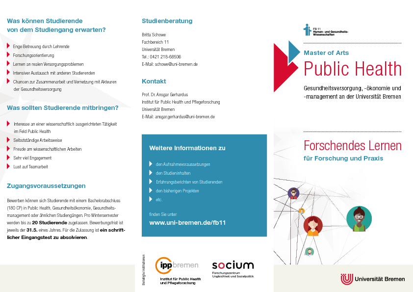 Public Health - Gesundheitsversorgung, -ökonomie und -management, M.A.