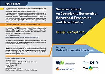 Summer School on Complexity Economics, Behavioral Economics and Data Science