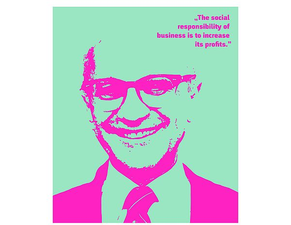 [Translate to English:] Picture from Milton Friedman