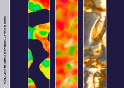 Tomography image and Ag atom distribution amps of a catalytically active nanoporous gold structure.