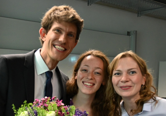 Michael Rochlitz together with his two colleagues Rebecca Maurer and Olga Masyutina