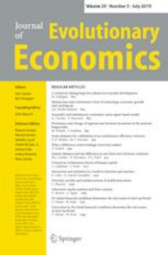 Cover: Journal of Evolutionary Economics