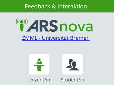 Screenshot Login-Bildschirm ARSnova