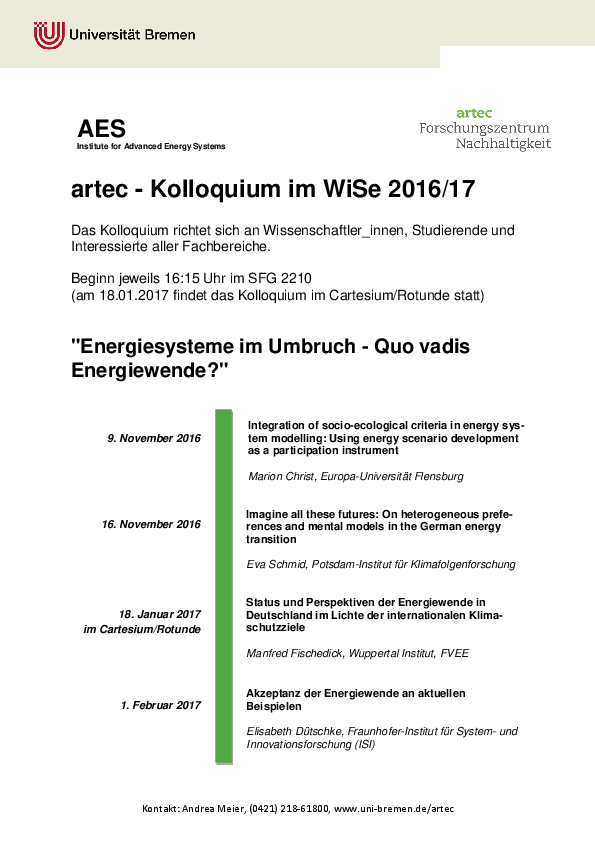 [Translate to English:] Kolloquium WiSe 2016/17