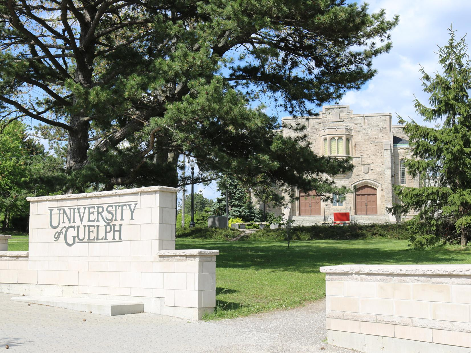 University of Guelph, campus entrance