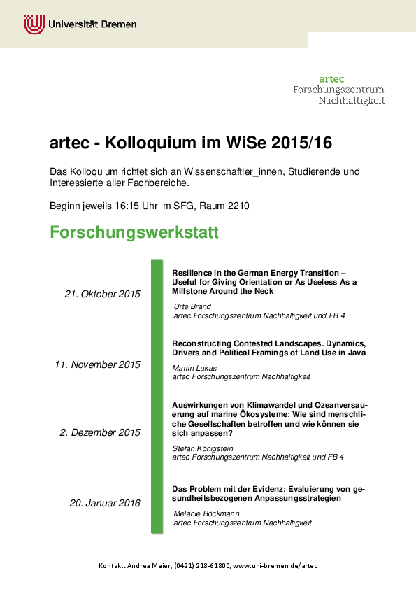 [Translate to English:] Kolloquium WiSe 2015/16