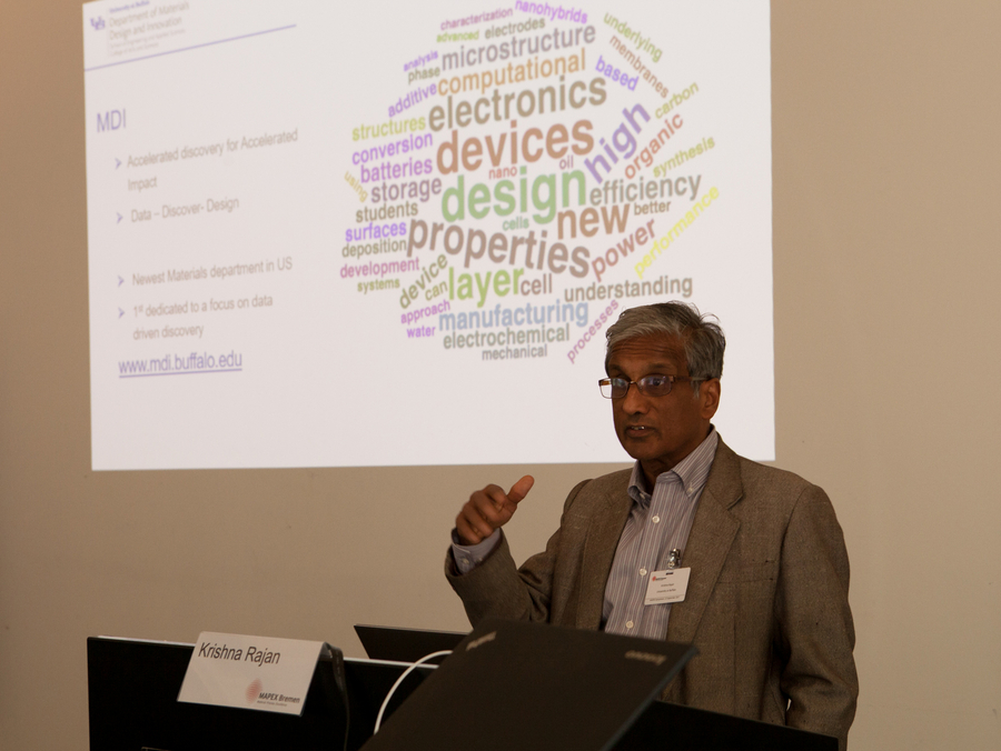 Krishna Rajan (University at Buffalo, USA) talking