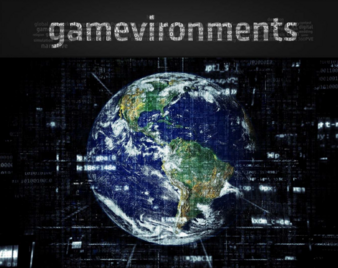 Gamevironments Titel, Globus in Datenwolke