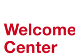 The logo of the Welcome Center