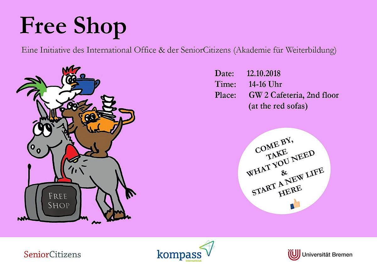 Flyer des Free Shop