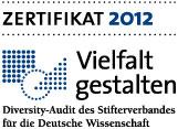 Logo Zertifikat Vielfalt gestalten