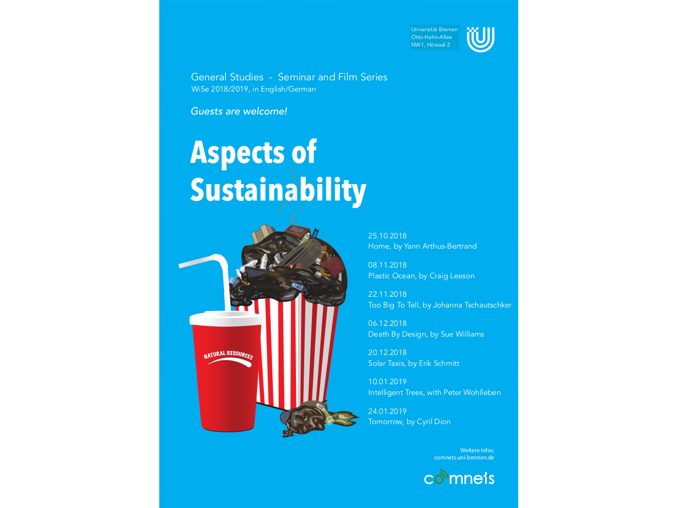 "Poster for the seminar ""Aspects of Sustainability"""