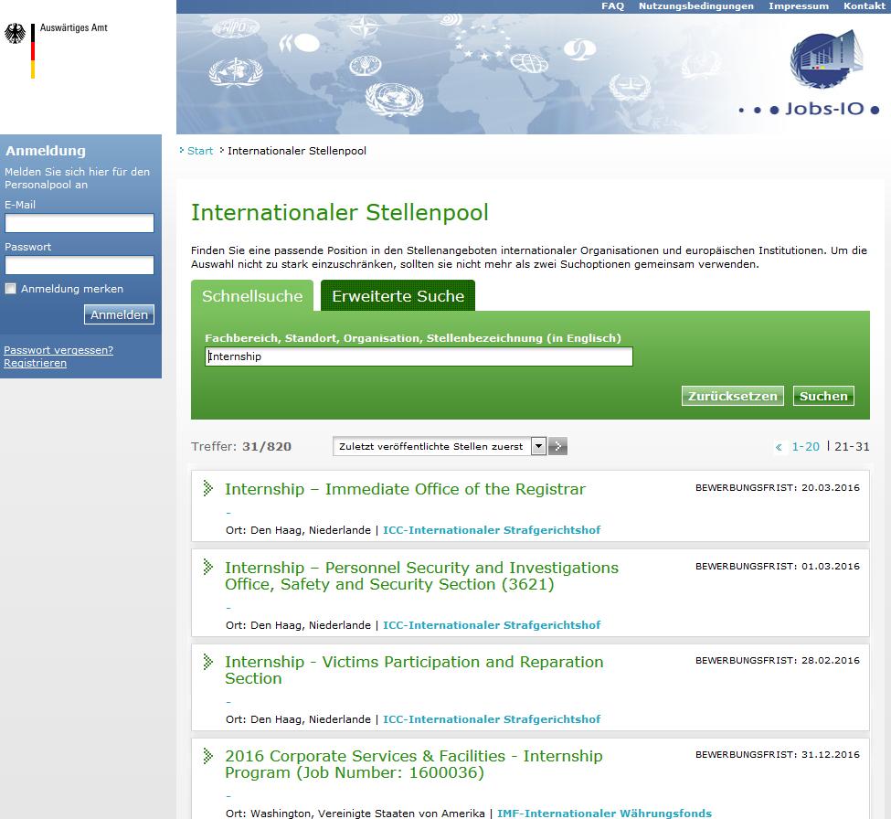 6.6 Internationale Organisationen