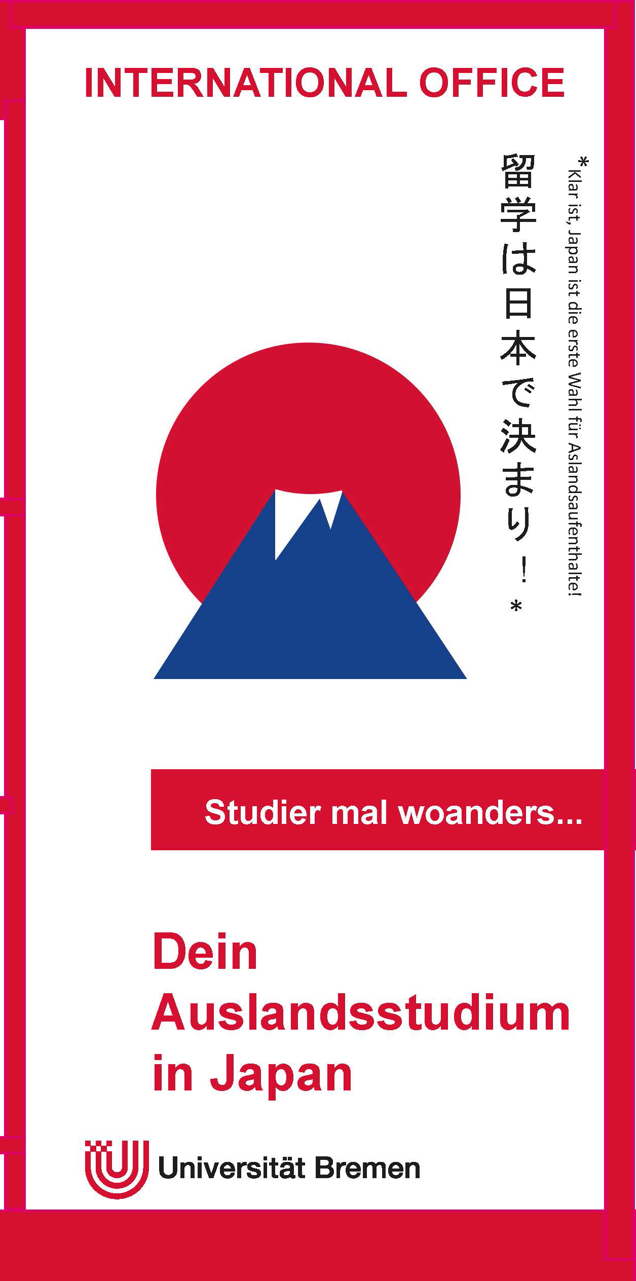 International Office Studium in Japan Flyer