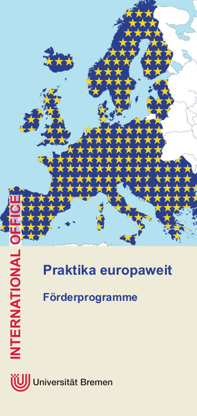 International Office Praktikum Europa Flyer