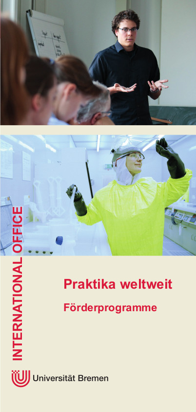 International Office Praktika weltweit Flyer