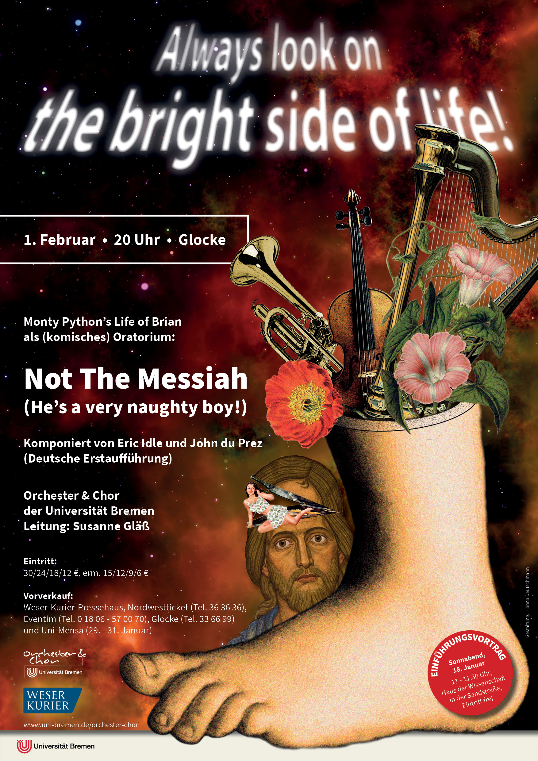 "Plakat ""Not The Messiah"""